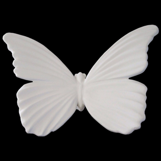 Butterfly Primed Fiberglass Sculpture Icon Poly