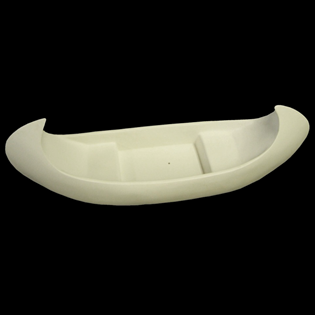 Canoe Primed Fiberglass Sculpture Icon Poly