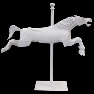 Carousel Horse Primed Fiberglass Sculpture Icon Poly