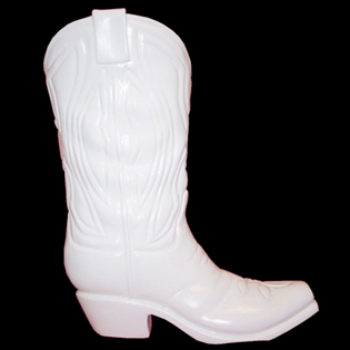 Cowboy Boot Primed Fiberglass Sculpture Icon Poly