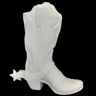 Cowboy Boot With Spur Primed Fiberglass Sculpture Icon Poly