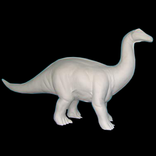Dinosaur Primed Fiberglass Sculpture Icon Poly