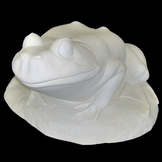 Frog On Lily Pad Primed Fiberglass Sculpture Icon Poly