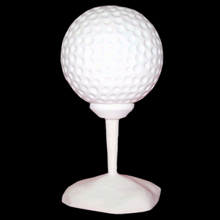 Golfball Primed Fiberglass Sculpture Icon Poly