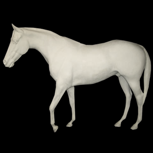 Horse Primed Fiberglass Sculpture Icon Poly