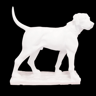 Labrador Dog Primed Fiberglass Sculpture Icon Poly