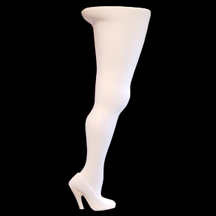 Woman's Leg Primed Fiberglass Sculpture Icon Poly