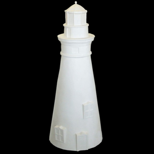 Lighthouse Primed Fiberglass Sculpture Icon Poly