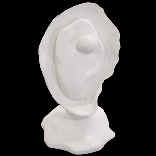 Oyster Primed Fiberglass Sculpture Icon Poly