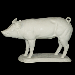 Market Pig Primed Fiberglass Sculpture Icon Poly