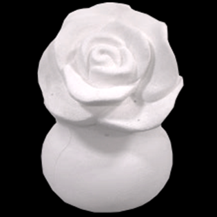 Rose In Vase Primed Fiberglass Sculpture Icon Poly