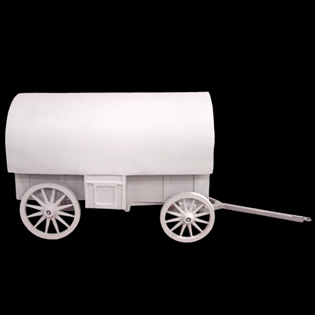 Sheepcart Primed Fiberglass Sculpture Icon Poly