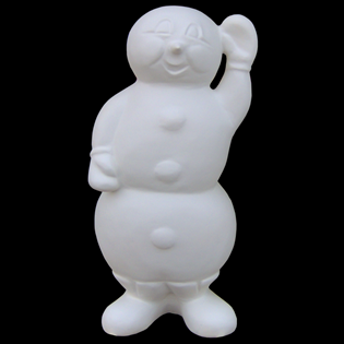 Snowman Primed Fiberglass Sculpture Icon Poly