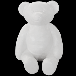 Teddybear Primed Fiberglass Sculpture Icon Poly