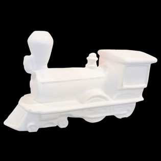 Steam Train Primed Fiberglass Sculpture Icon Poly