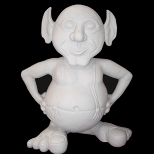 Troll Mascot Primed Fiberglass Sculpture Icon Poly