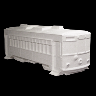 Streetcar Primed Fiberglass Sculpture Icon Poly