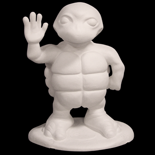 Waving Turtle Primed Fiberglass Sculpture Icon Poly